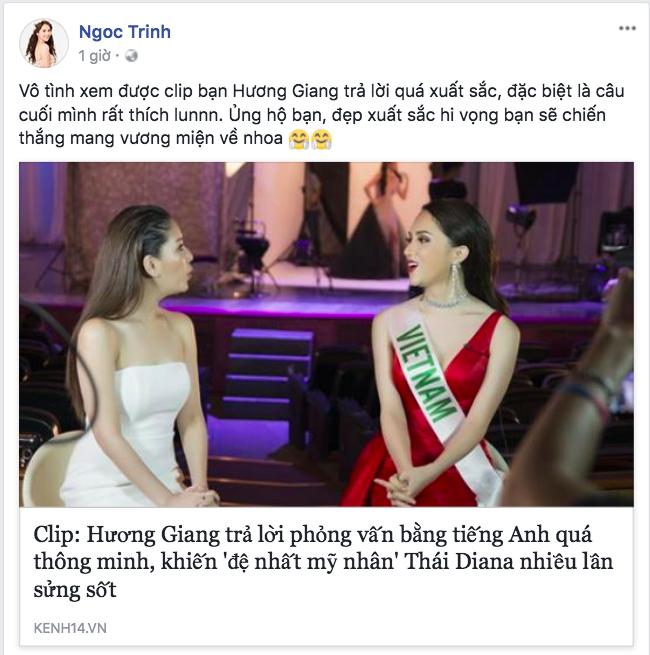 Sao Việt gửi lời nhắn tới Hương Giang trước thềm chung kết Hoa hậu Chuyển giới Quốc tế 2018 - Ảnh 3.