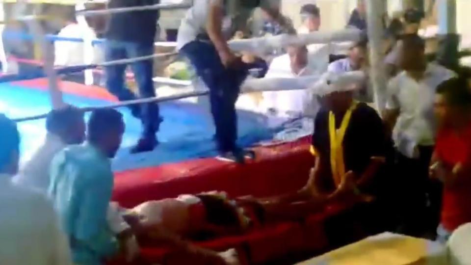 Võ sĩ bị xuất huyết não sau khi cố trụ 7 hiệp đấu trên võ đài - Ảnh 4.