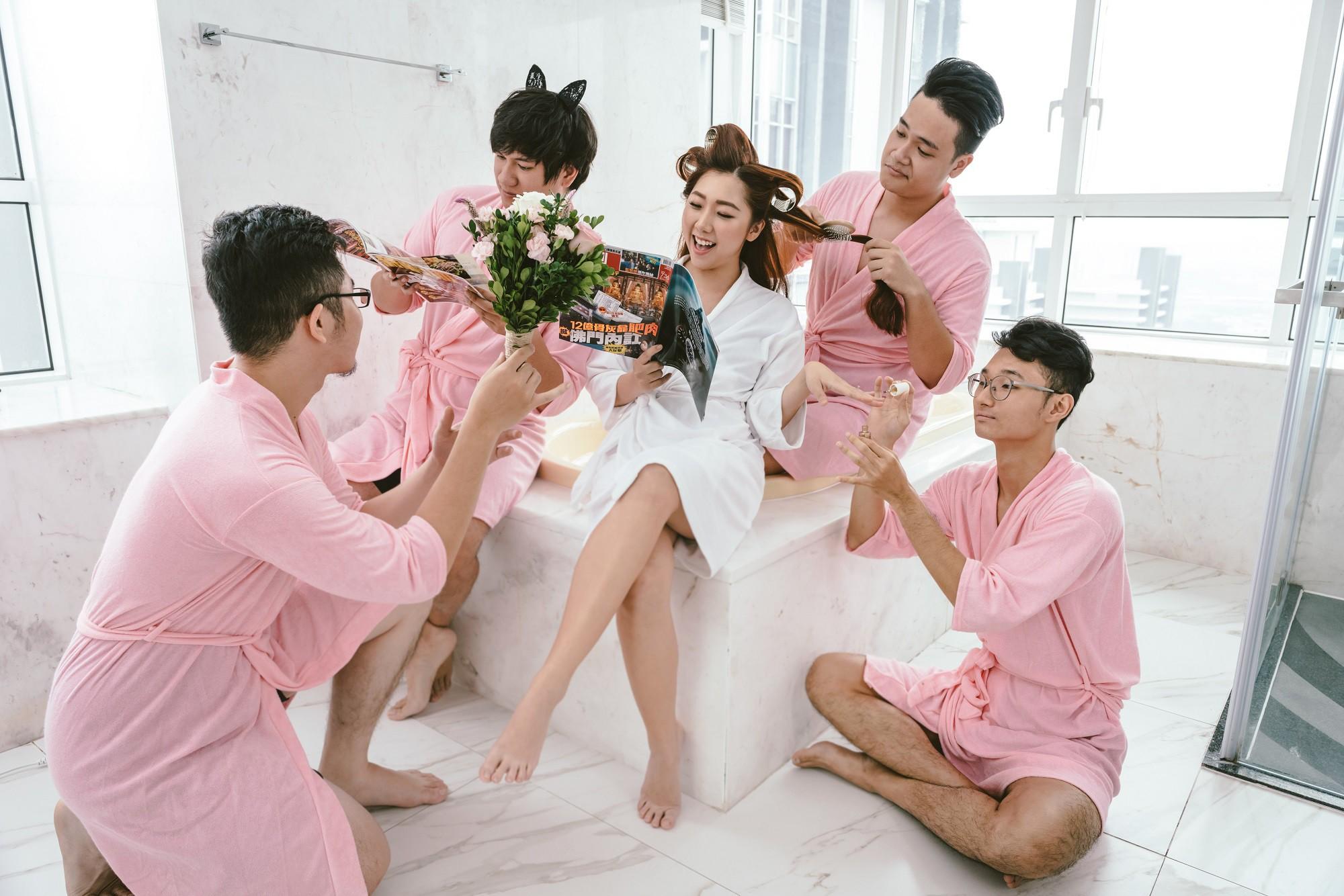 Em gái Trấn Thành kết hôn với bạn trai Hồng Kông, tung bộ ảnh cưới nhắng nhít cùng hội bạn thân - Ảnh 15.