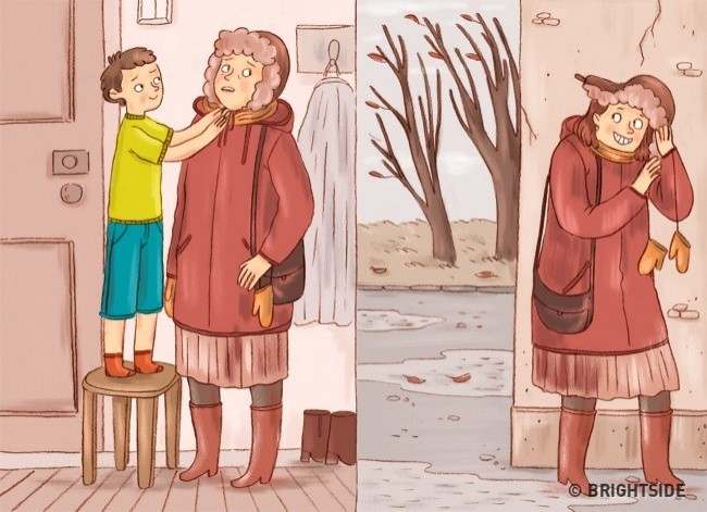 Bộ tranh: Chuyện gì sẽ xảy ra khi bố mẹ và con cái đổi tính cho nhau? - Ảnh 7.