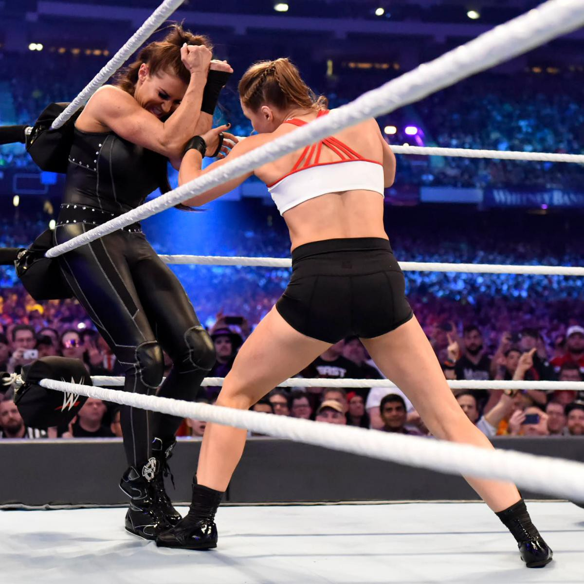"""""""Quái nữ"""" UFC Ronda Rousey ra mắt thành công ở đấu trường WWE - Ảnh 9."""
