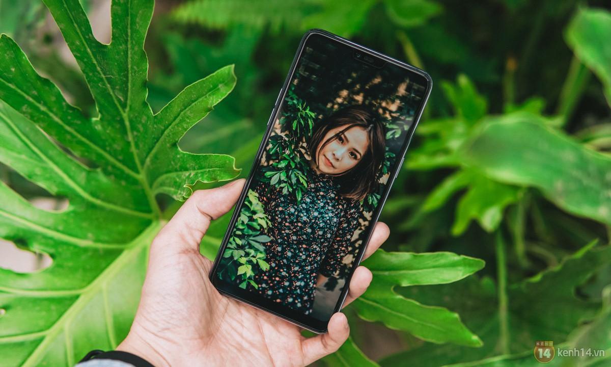 Mở hộp OPPO F7 màu bạc lấp lánh: Selfie bằng AI cực đẹp, màn hình FullView kèm tai thỏ như iPhone X - Ảnh 2.