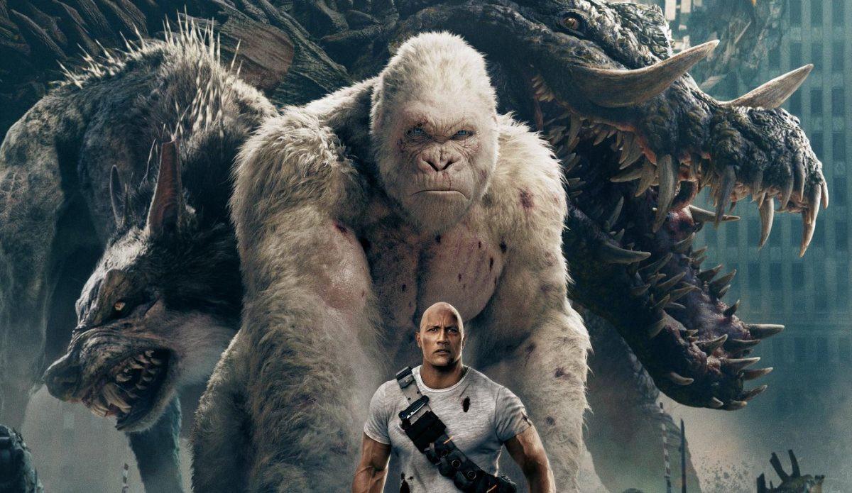 """Ngắm nhìn The Rock so cơ cùng quái thú trong bom tấn xôi thịt """"Rampage"""" - Ảnh 1."""