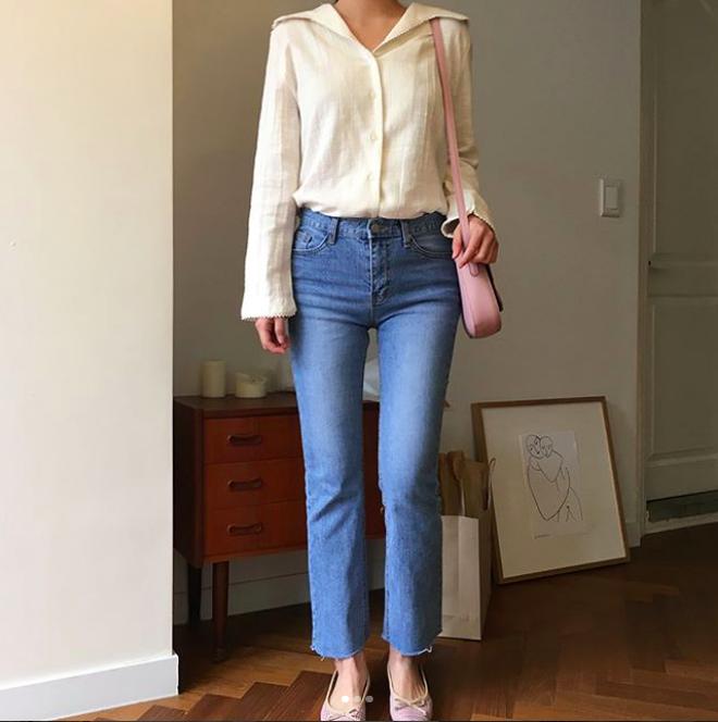 Định mặc quần jeans ống đứng, các nàng hãy chọn 1 trong 4 combo cứ lên đồ là đẹp miễn chê này - Ảnh 9.
