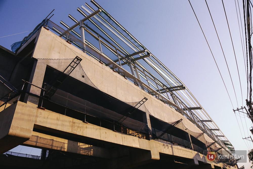 Phần kết cấu thô của 2 nhà ga đã hoàn thiện.