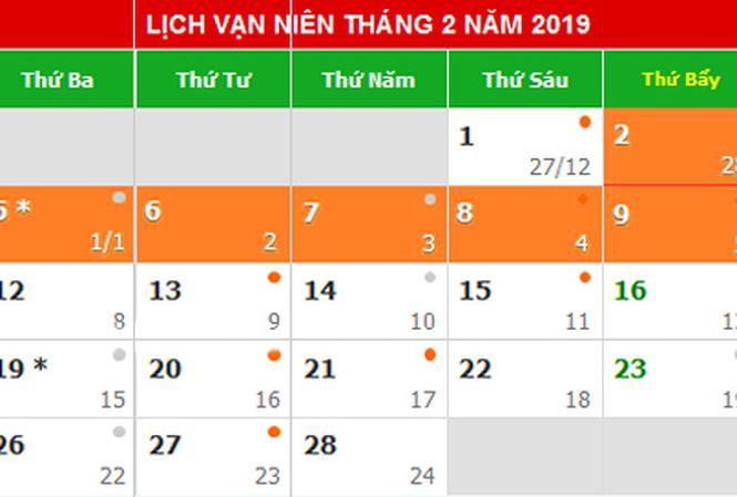 Đề xuất Tết Dương lịch 2019 nghỉ 5 ngày, Tết Âm lịch nghỉ 9 ngày - Ảnh 1.