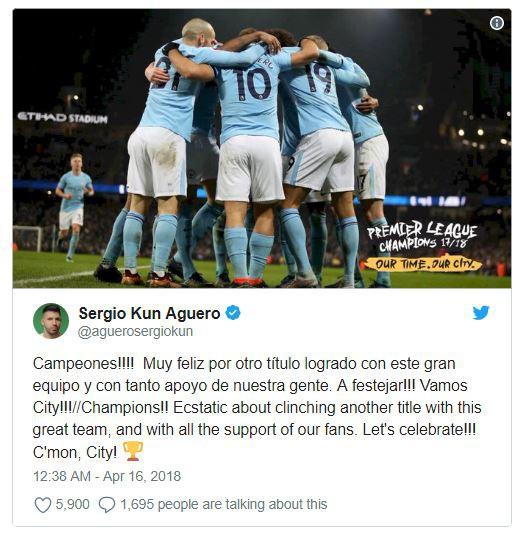 CHÍNH THỨC: Man City vô địch Premier League 2017/18 sớm 5 vòng - Ảnh 5.