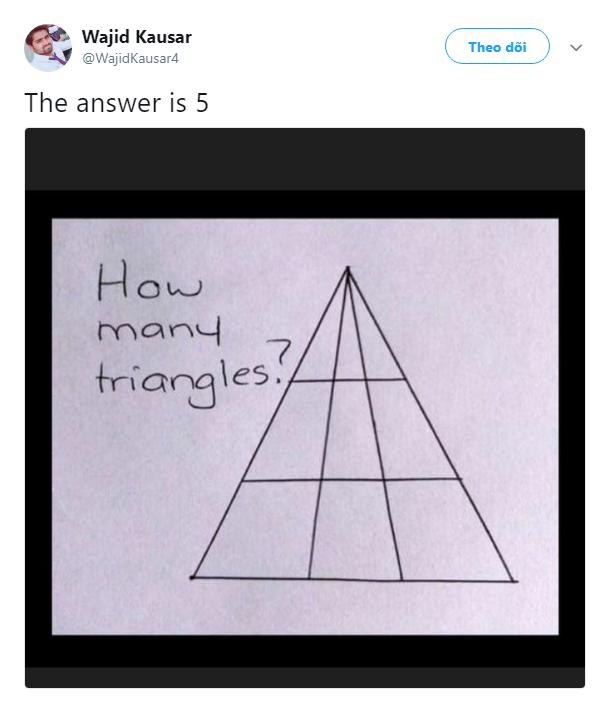 Bài Toán đếm hình tam giác tưởng dễ như lớp 1 đang khiến cư dân mạng đồng loạt bối rối - Ảnh 2.