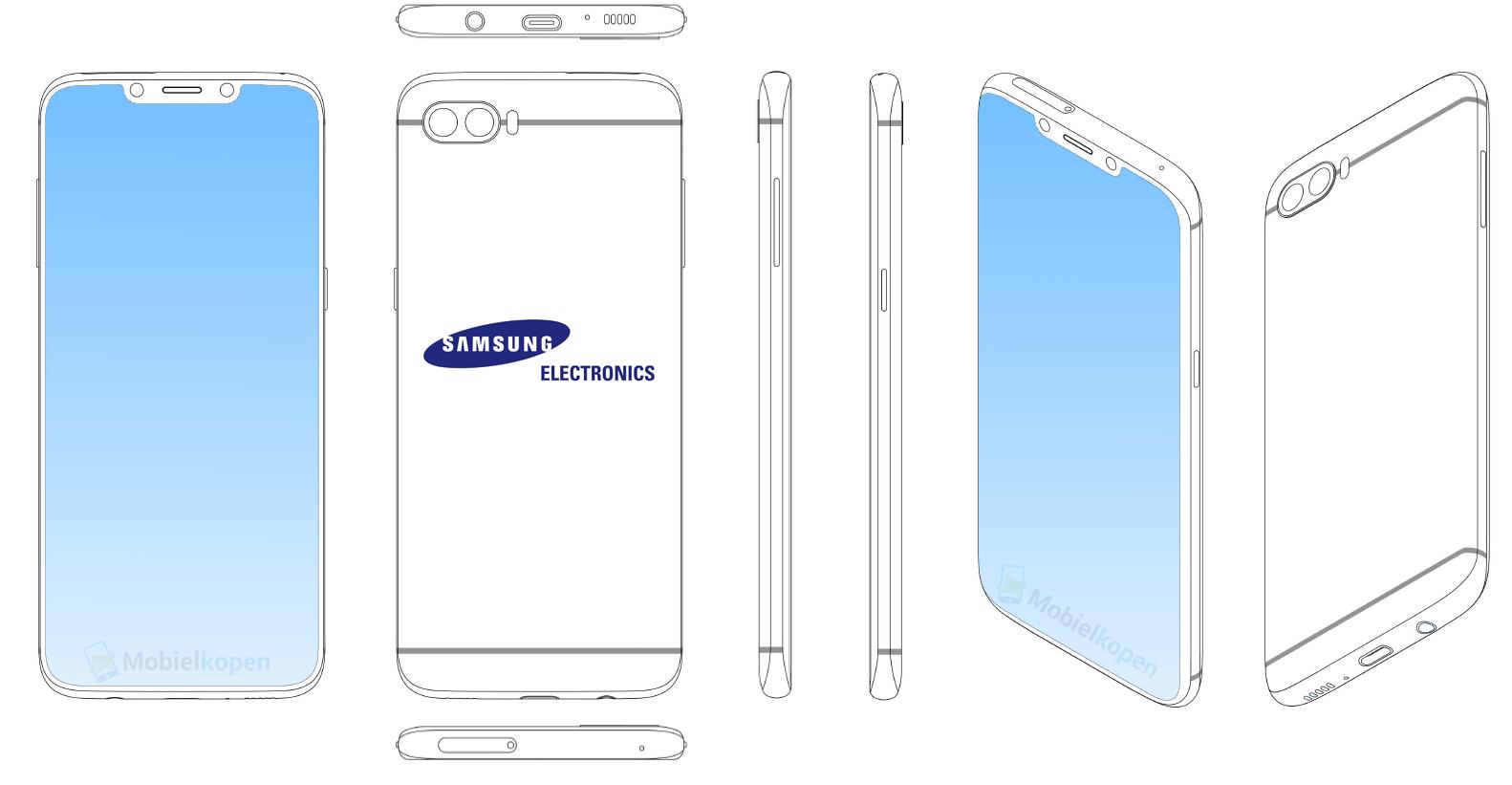 Samsung lộ ý định copy tai thỏ của iPhone X trong bản thiết kế mới - Ảnh 3.