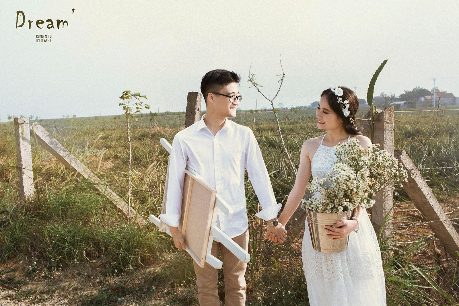 """Dân tình phát sốt với bộ ảnh cưới trong trẻo """"Vẽ giấc mơ tình yêu"""" trên cánh đồng dứa Ninh Bình - Ảnh 4."""