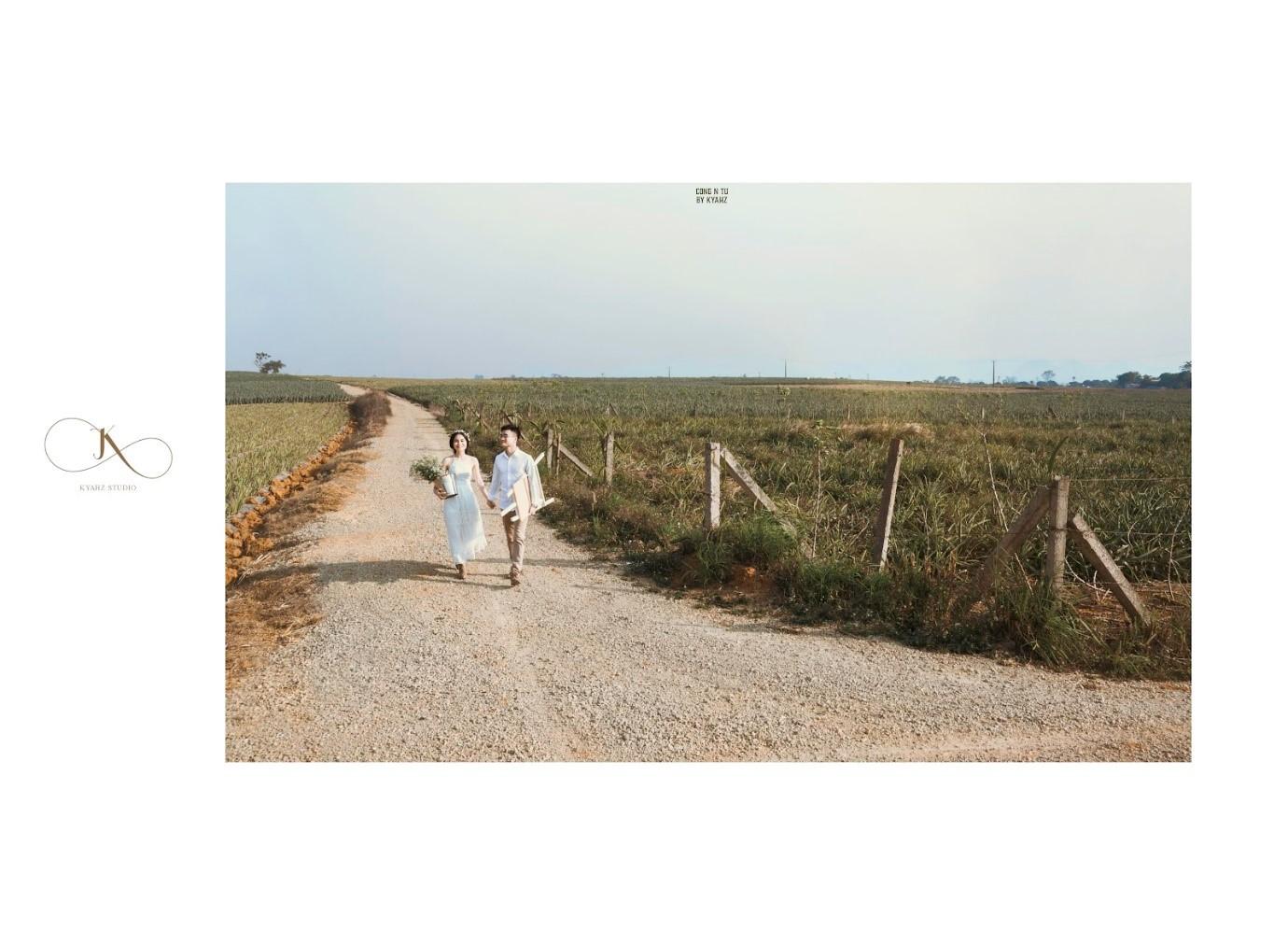 """Dân tình phát sốt với bộ ảnh cưới trong trẻo """"Vẽ giấc mơ tình yêu"""" trên cánh đồng dứa Ninh Bình - Ảnh 6."""