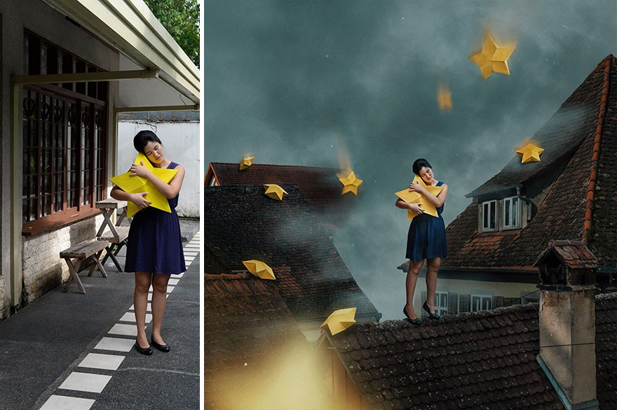 Tài năng Photoshop thượng thừa, cô nàng biến bộ ảnh vườn nhà thành những kiệt tác nghệ thuật - Ảnh 1.