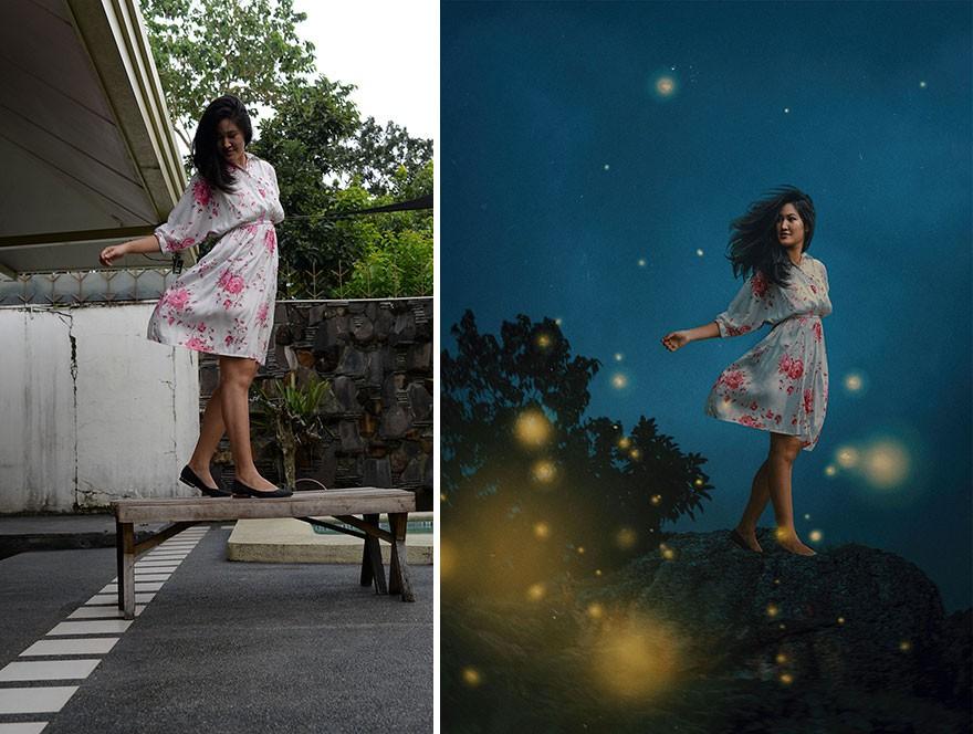 Tài năng Photoshop thượng thừa, cô nàng biến bộ ảnh vườn nhà thành những kiệt tác nghệ thuật - Ảnh 5.