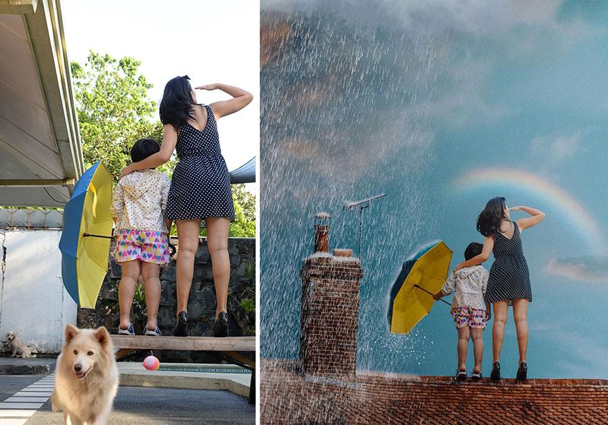 Tài năng Photoshop thượng thừa, cô nàng biến bộ ảnh vườn nhà thành những kiệt tác nghệ thuật - Ảnh 8.