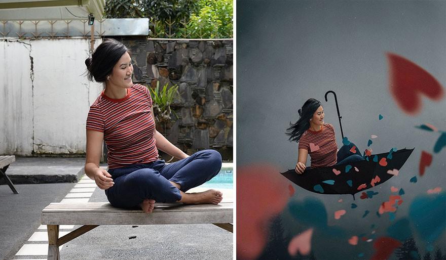 Tài năng Photoshop thượng thừa, cô nàng biến bộ ảnh vườn nhà thành những kiệt tác nghệ thuật - Ảnh 18.