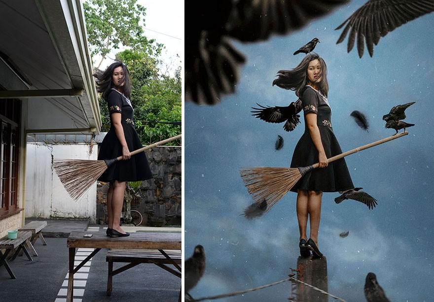 Tài năng Photoshop thượng thừa, cô nàng biến bộ ảnh vườn nhà thành những kiệt tác nghệ thuật - Ảnh 2.