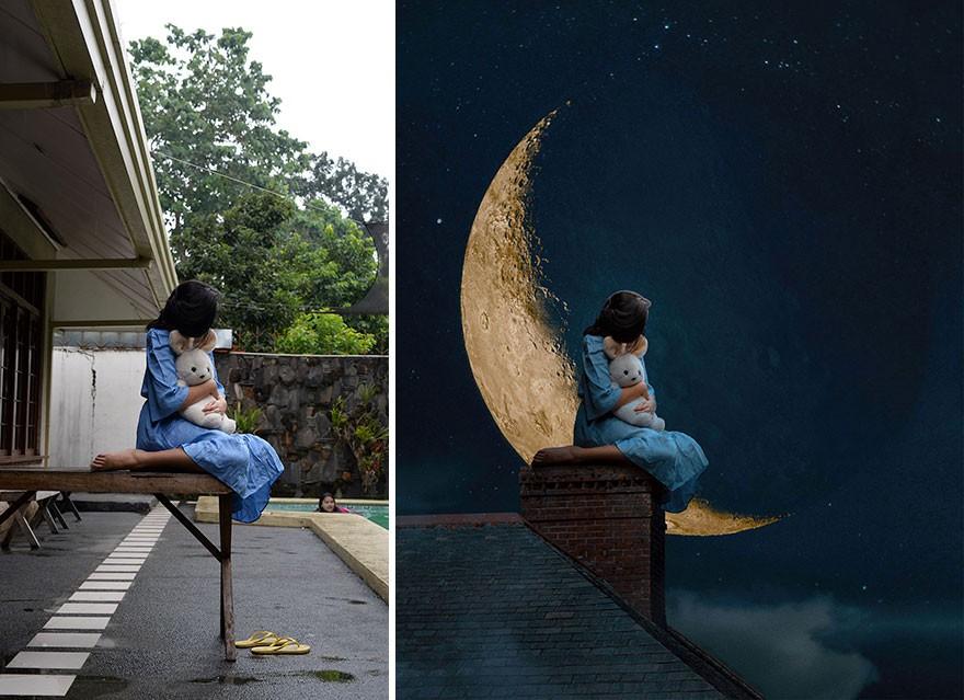 Tài năng Photoshop thượng thừa, cô nàng biến bộ ảnh vườn nhà thành những kiệt tác nghệ thuật - Ảnh 3.