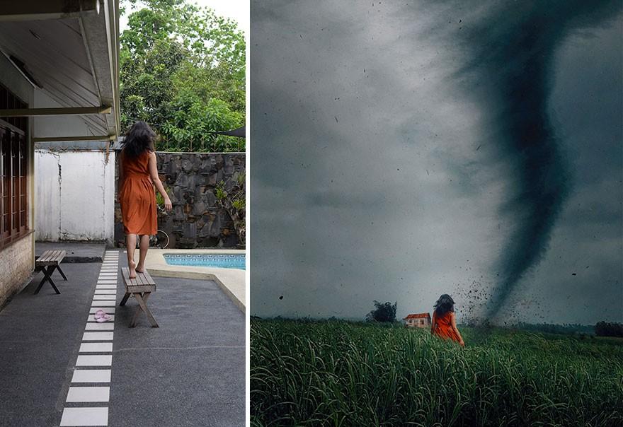 Tài năng Photoshop thượng thừa, cô nàng biến bộ ảnh vườn nhà thành những kiệt tác nghệ thuật - Ảnh 12.