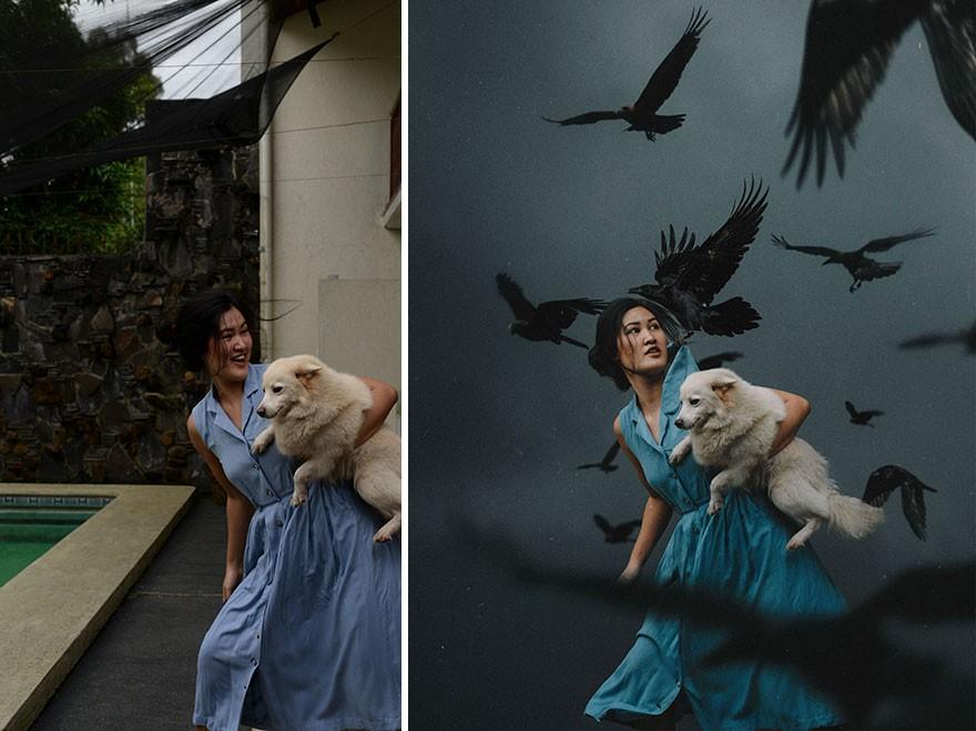 Tài năng Photoshop thượng thừa, cô nàng biến bộ ảnh vườn nhà thành những kiệt tác nghệ thuật - Ảnh 4.