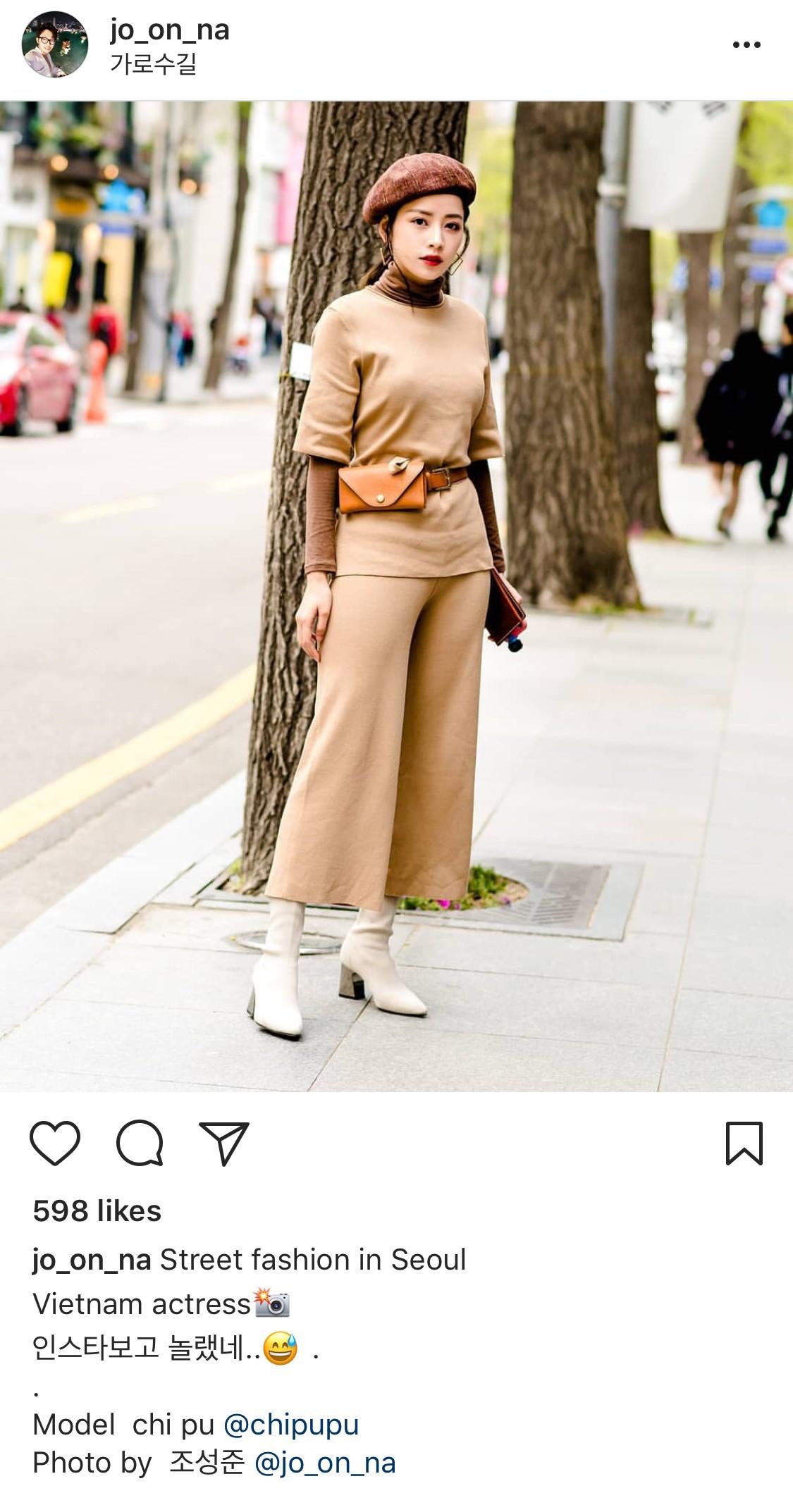 Mặc đẹp không thua kém giới trẻ Hàn, Chi Pu lọt ống kính nhiếp ảnh gia street style tại Seoul khi tới đây du lịch - Ảnh 6.