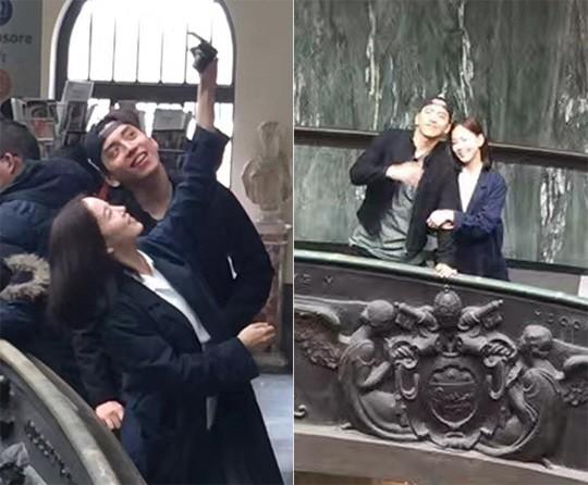 Một mực phủ nhận tin đồn hẹn hò, nhưng Kang Han Na và Vương Đại Lục cứ liên tục tình tứ bên nhau
