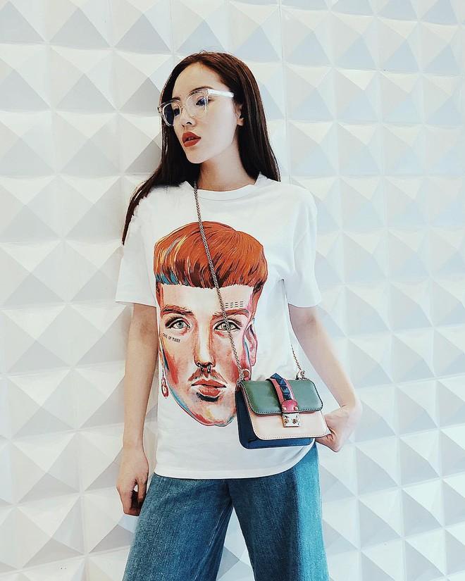 Vừa mới vào hè, sao Việt đã có cả loạt gợi ý mix đồ hay ho với áo phông để bạn áp dụng - Ảnh 2.