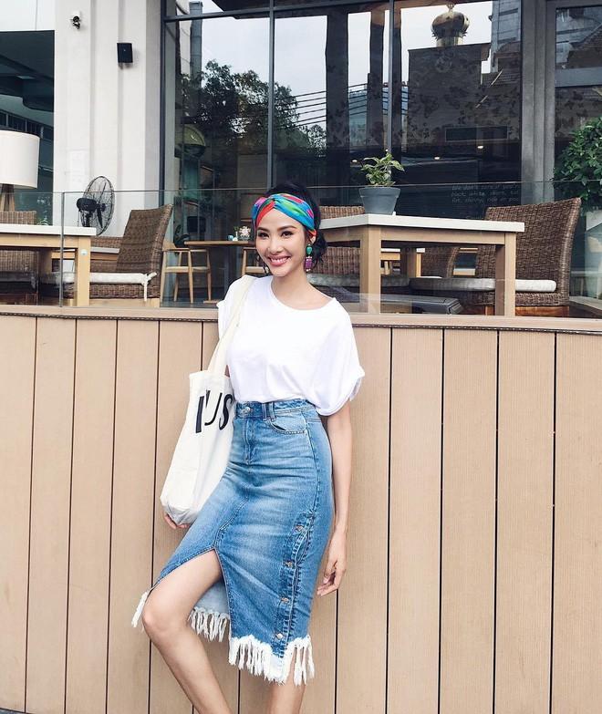 Vừa mới vào hè, sao Việt đã có cả loạt gợi ý mix đồ hay ho với áo phông để bạn áp dụng - Ảnh 4.