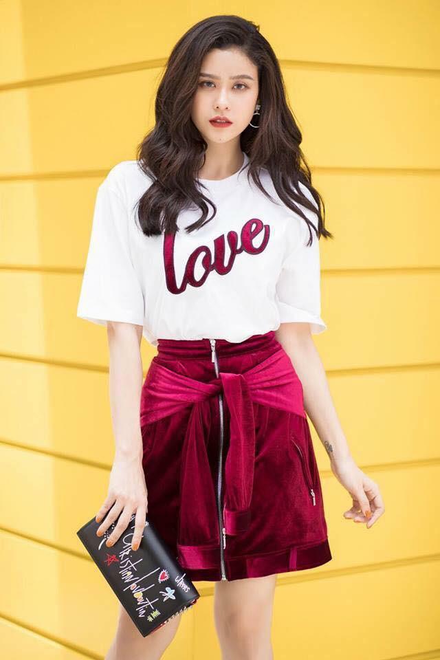 Vừa mới vào hè, sao Việt đã có cả loạt gợi ý mix đồ hay ho với áo phông để bạn áp dụng - Ảnh 7.