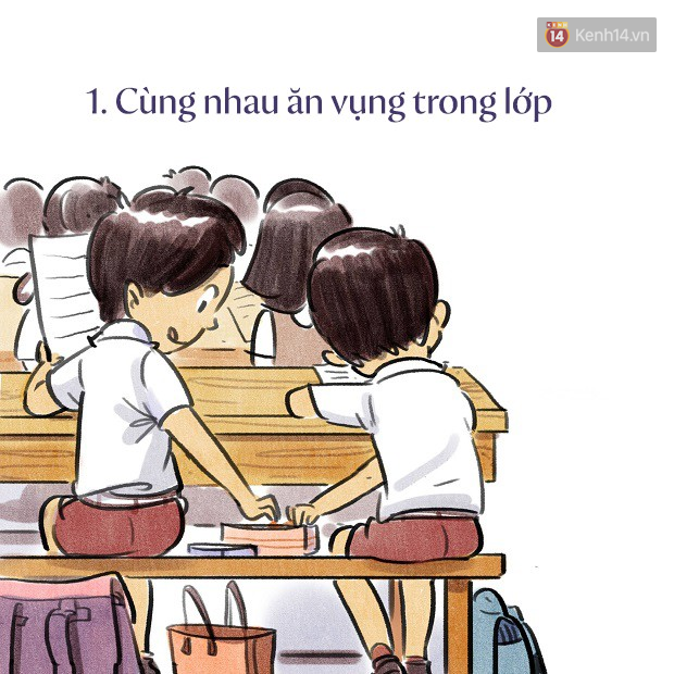 Bộ tranh dễ thương về tuổi học trò: cả một trời thanh xuân của bao thế hệ bỗng ùa về - Ảnh 1.