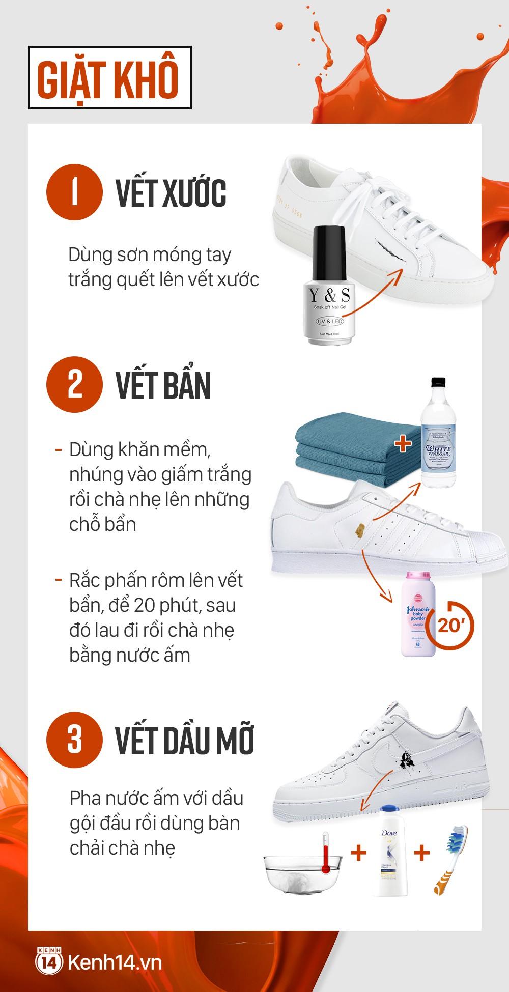 Cẩm nang xử lý mọi vấn đề, giúp cho đôi sneaker trắng của bạn lúc nào cũng tinh tươm như mới - Ảnh 3.