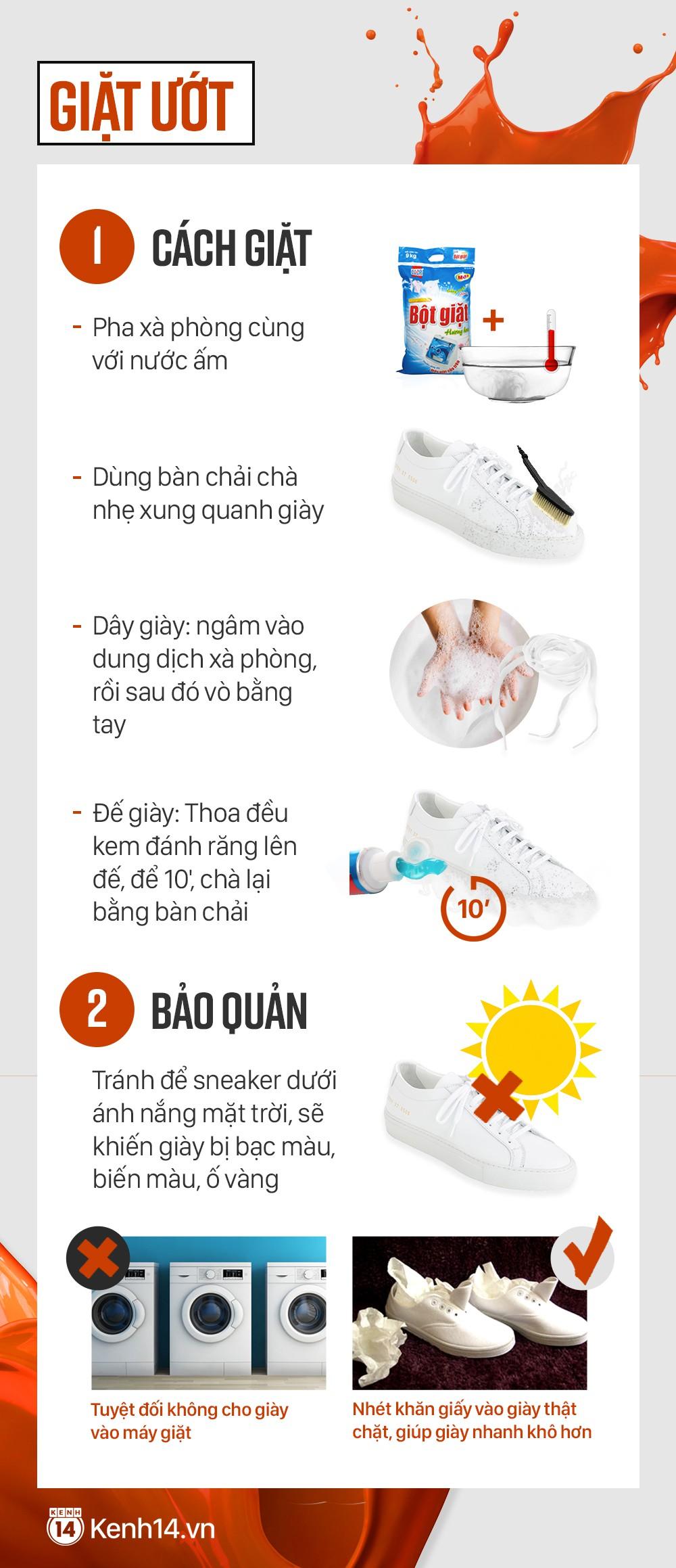 Cẩm nang xử lý mọi vấn đề, giúp cho đôi sneaker trắng của bạn lúc nào cũng tinh tươm như mới - Ảnh 5.
