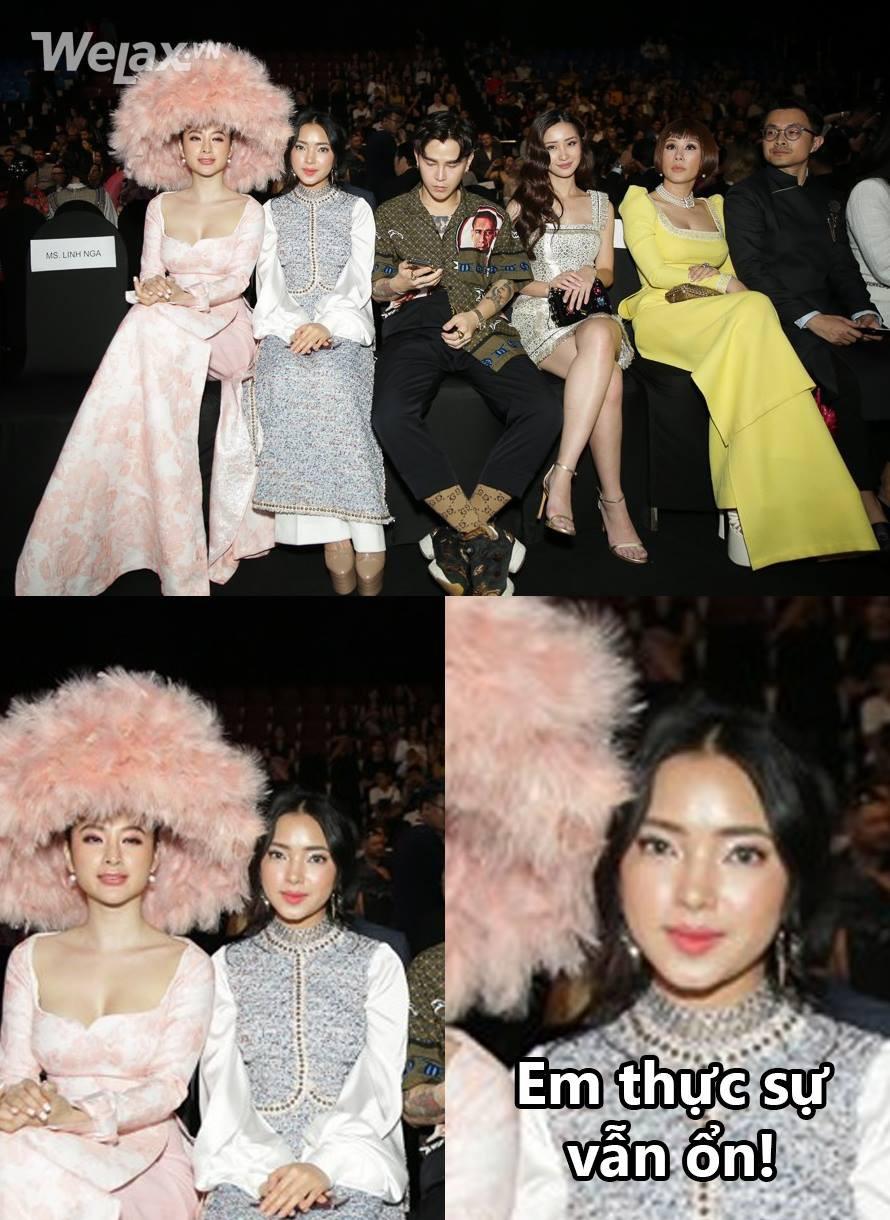 Ai cũng thương Châu Bùi phải húp trọn chiếc mũ lông của Angela Phương Trinh, nhưng xin đừng lo, Châu ổn! - Ảnh 3.