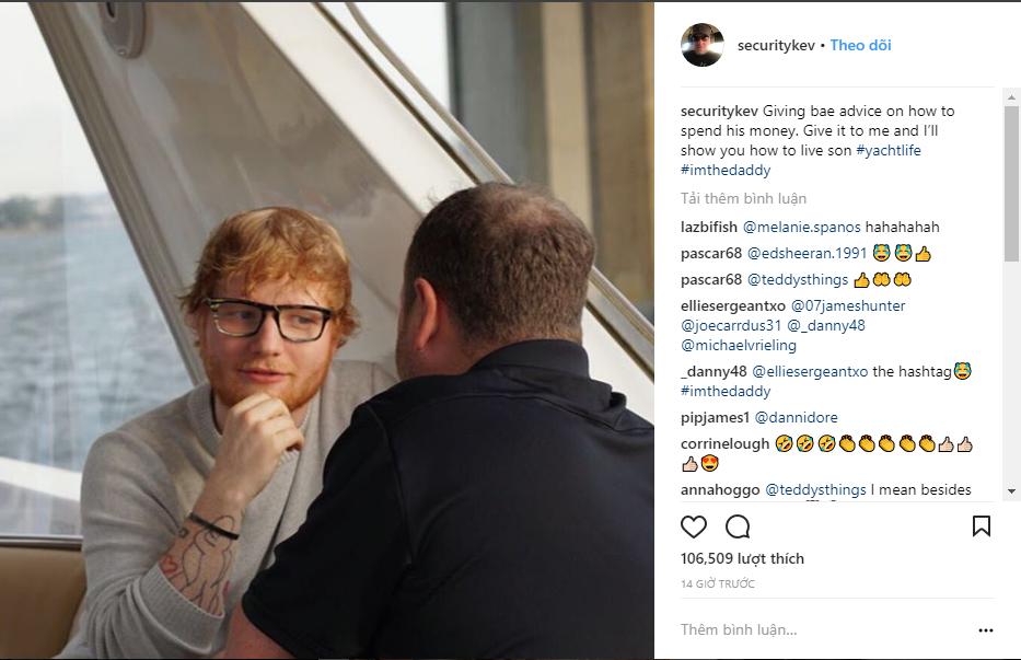 Chuyện làm bảo vệ của người nổi tiếng: Hiếm ai như Ed Sheeran, thuê ngay phải bảo vệ nghiện đem cả hai ra bông đùa - Ảnh 1.