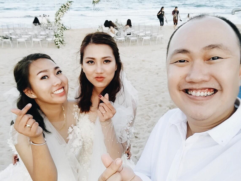 Đám cưới đồng tính của hai cô gái từng là tình địch giữa bãi biển Bình Thuận thơ mộng - Ảnh 9.