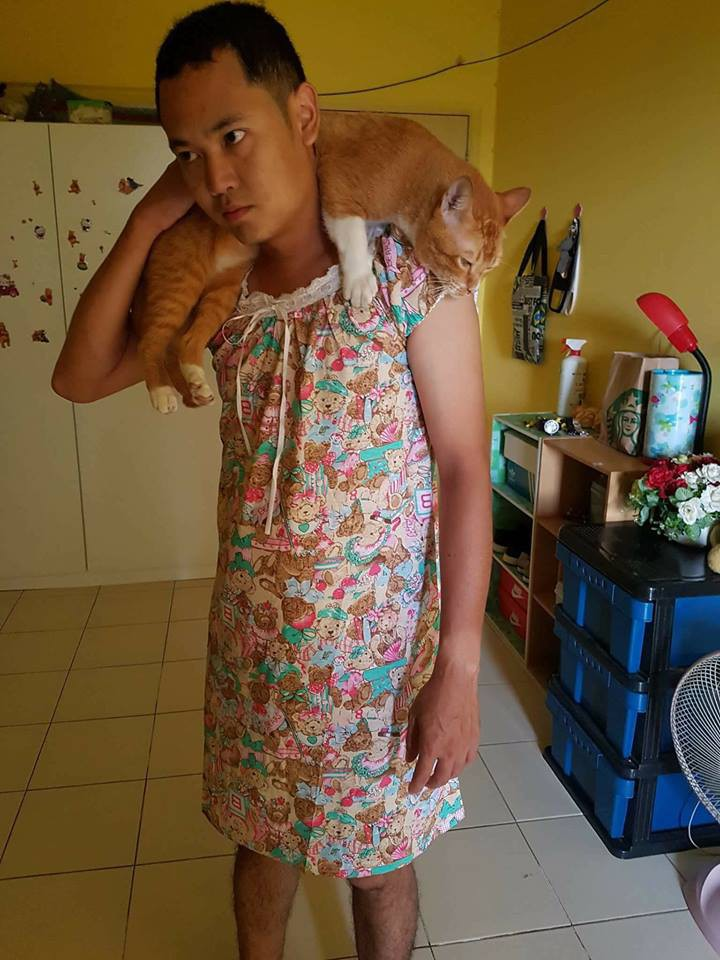 Chàng trai hóa trang thành phụ nữ vì mèo cưng không thích lại gần đàn ông - Ảnh 1.