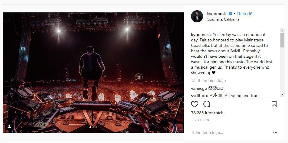 DJ Kygo khép lại set diễn tại Coachella với màn tưởng nhớ Avicii - Ảnh 4.