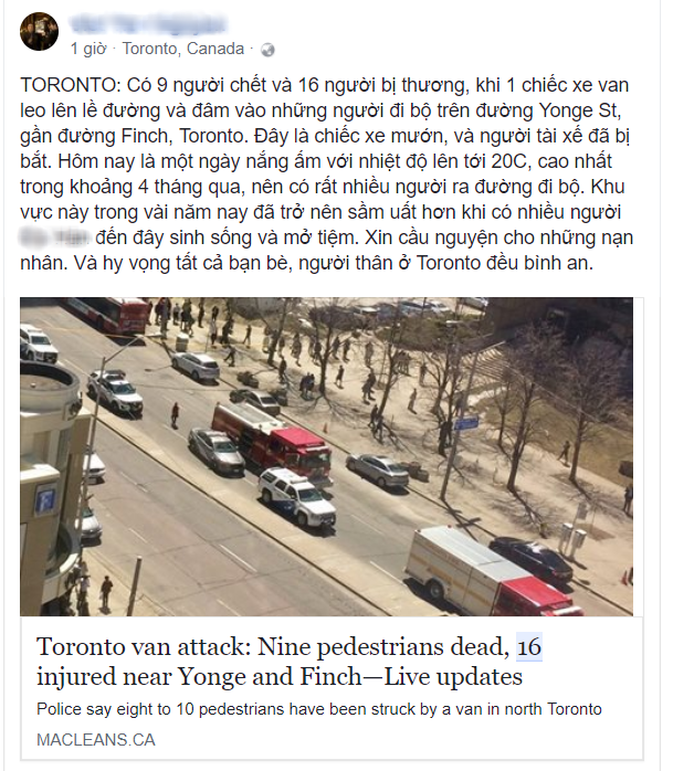 Du học sinh Việt tại Canada hoang mang sau vụ xe điên đâm chết 10 người đi bộ - Ảnh 4.