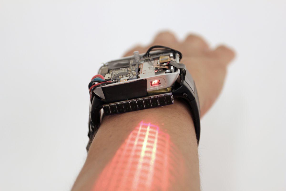 Smartwatch không cần màn hình, quẹt cảm ứng luôn ngay trên cổ tay - Ảnh 3.