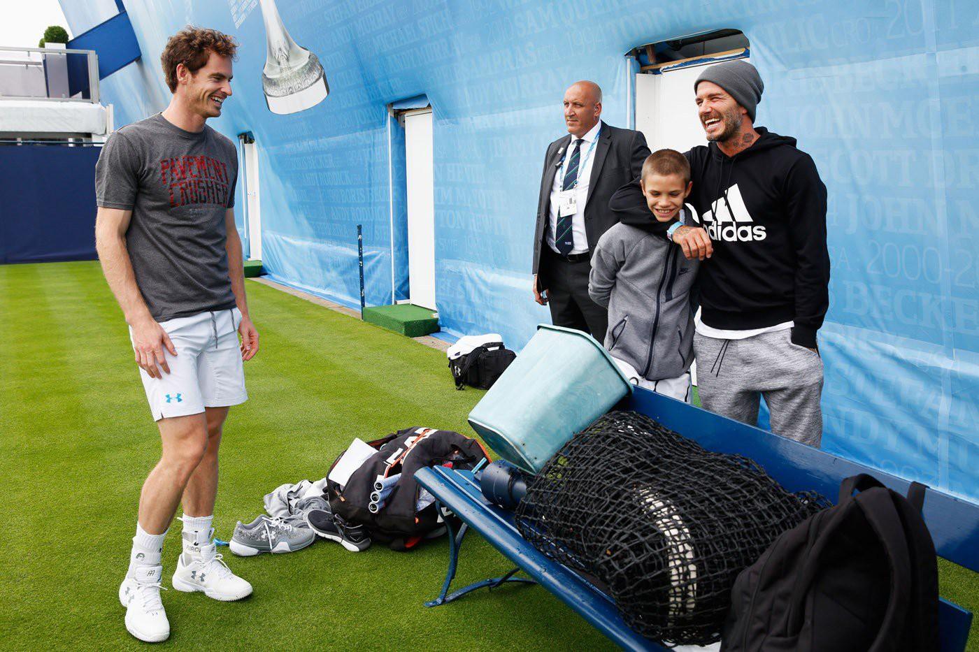 Con trai Beckham đấu tennis với tay vợt nữ số 2 thế giới - Ảnh 4.