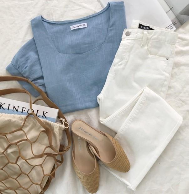 Vừa cổ điển lại nữ tính, áo cổ vuông dự là item sẽ được các nàng thi nhau tìm mua hè này - Ảnh 14.
