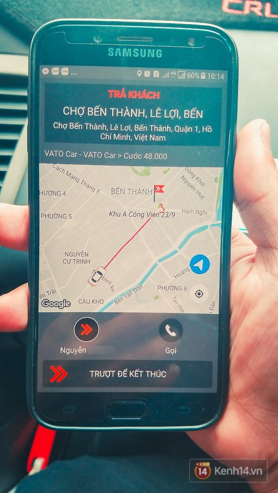 App Vato của tài xế chạy VatoCar.