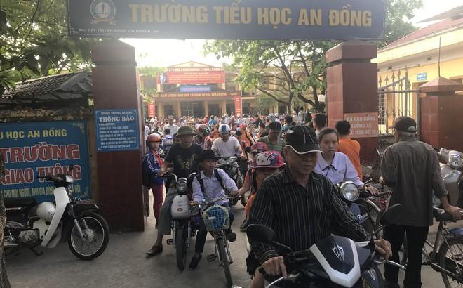 Trường tiểu học An Đồng nơi cháu Phương A. bị ép uống nước giẻ lau bảng.
