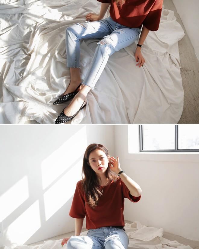 Không cần chọn kiểu dáng, chỉ cần kết hợp cùng 5 gam màu này là set đồ với quần jeans nhìn long lanh hết mức - Ảnh 2.
