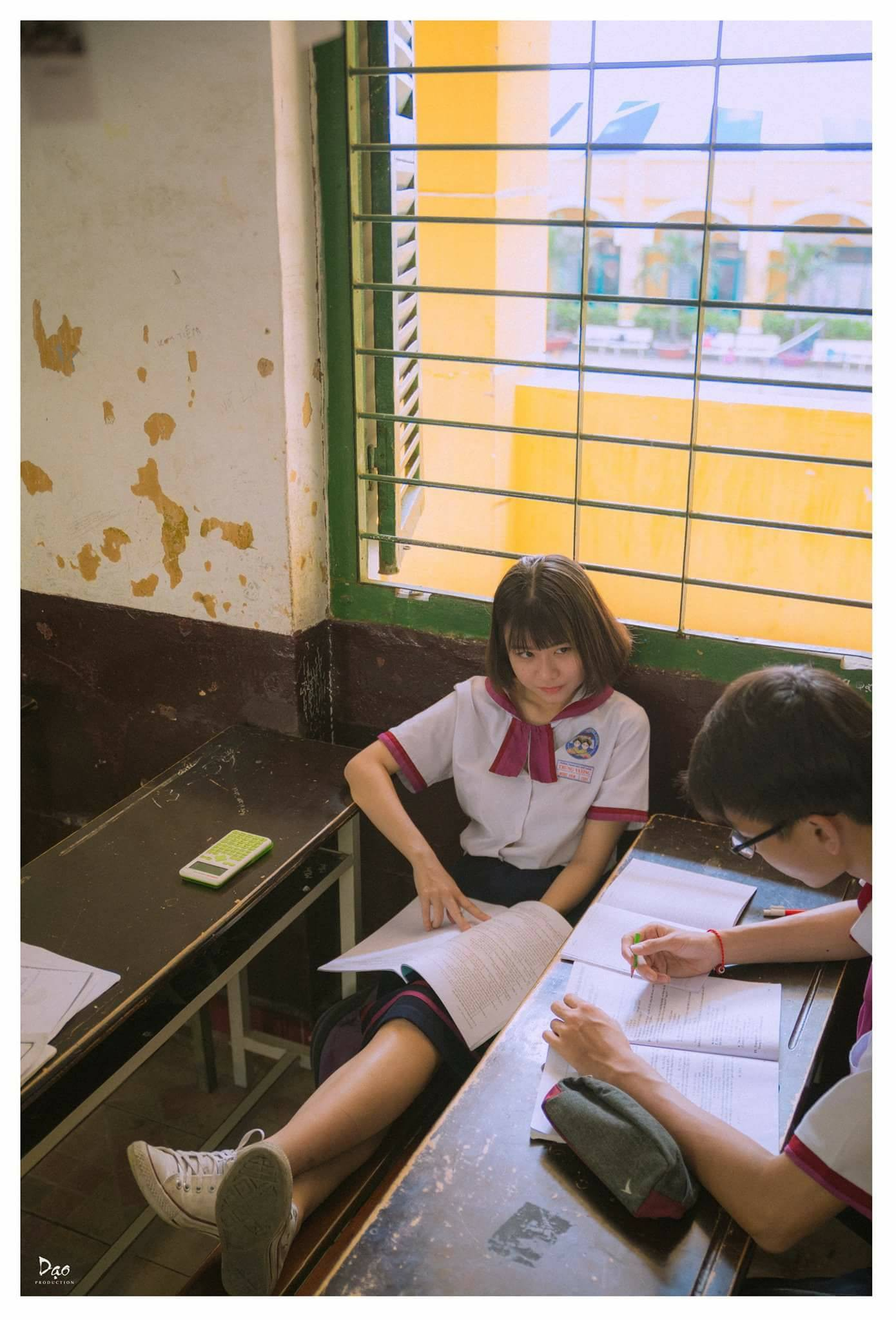Tan chảy với bộ ảnh Gửi thời đẹp đẽ đơn thuần của chúng ta phiên bản Việt của cặp đôi trường Trưng Vương - Ảnh 6.