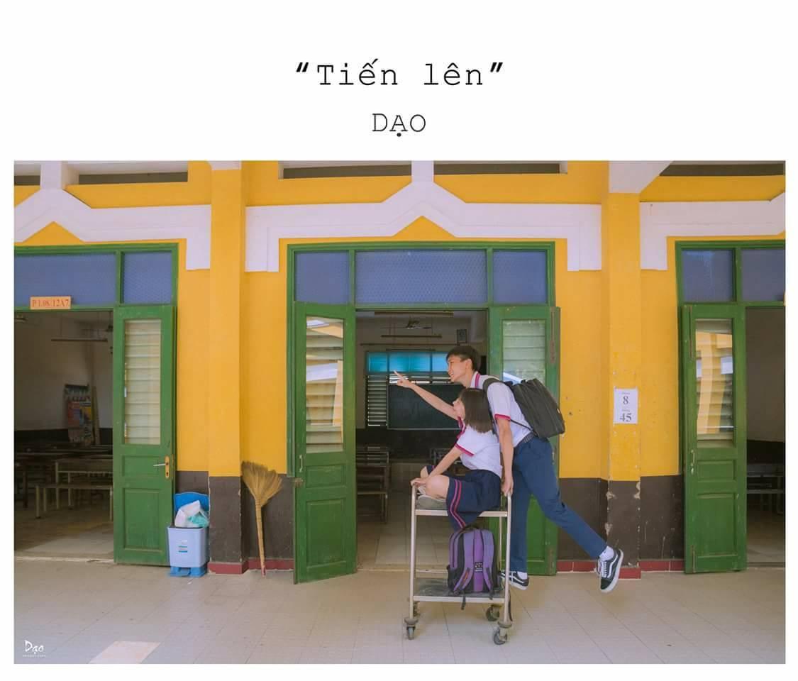 Tan chảy với bộ ảnh Gửi thời đẹp đẽ đơn thuần của chúng ta phiên bản Việt của cặp đôi trường Trưng Vương - Ảnh 7.