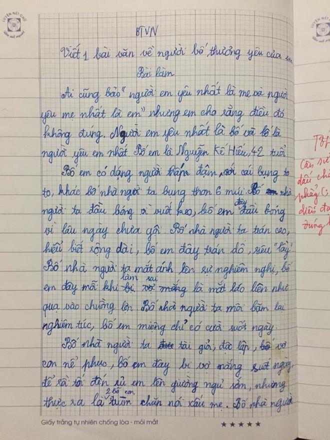Chê bố không bằng phụ huynh nhà người ta: Bài văn của cô bé lớp 5 khiến người đọc cay mắt - Ảnh 1.