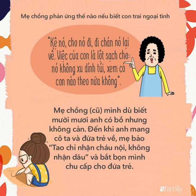 Khi hay tin con trai ngoại tình, thử đoán xem các bà mẹ chồng phản ứng như thế nào? - Ảnh 4.
