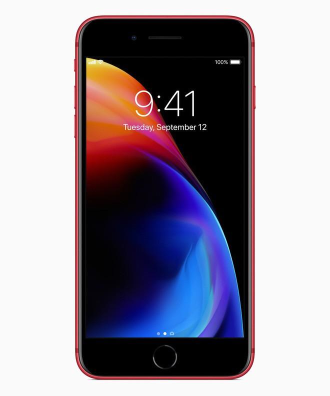Apple chính thức ra mắt iPhone 8 và 8 Plus đỏ (PRODUCT)RED: Mặt trước màu đen, bán ra 13/4, giá từ 699 USD - Ảnh 2.