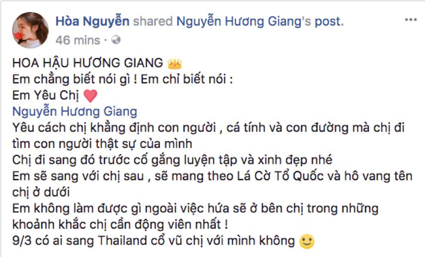 Hương Giang Idol được loạt sao Việt ủng hộ tham dự Miss International Queen 2018 - Ảnh 6.