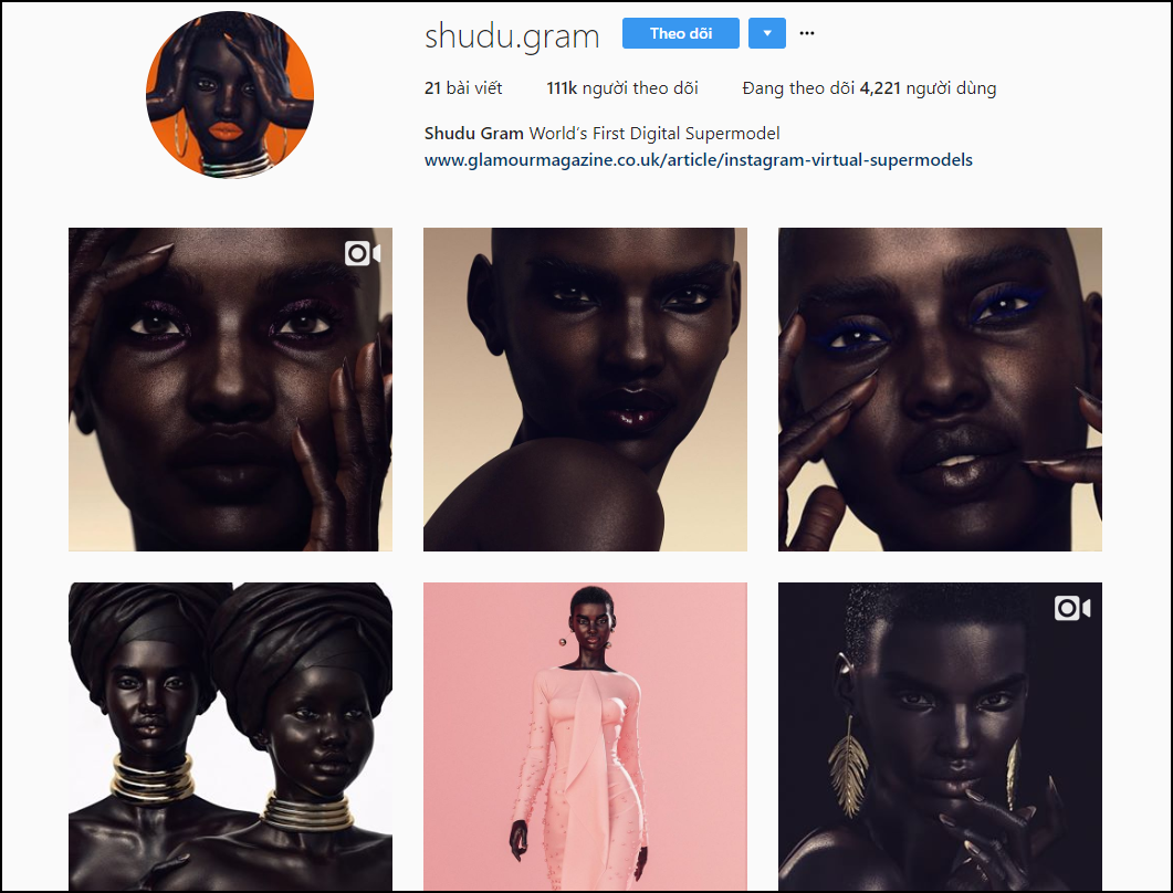 Siêu mẫu da màu thần thái sắc lẹm trên Instagram này hoá ra chỉ là hàng ảo, còn không phải người thật - Ảnh 1.